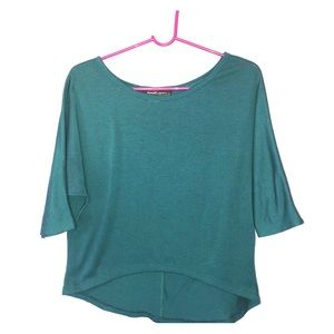 Tops - Teal High-Low Button-down Blouse